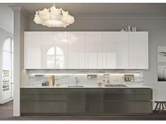 Cucina lineare in acciaio senza maniglie LOOK | Cucina lineare - SISTEMA