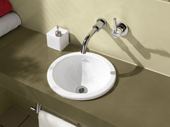 Lavabo da incasso soprapiano in ceramica LOOP & FRIENDS | Lavabo da incasso soprapiano - Loop & Friends