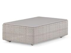 Tavolino / pouf da giardino LOU | Pouf da giardino rettangolare - LOU