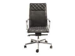 Sedia ufficio in pelle a 5 razze con ruoteLOUISIANA | Sedia ufficio - AP FACTOR