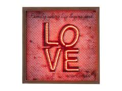 Oggetto decorativo da parete LOVE NEON GRID -