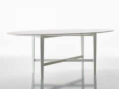Tavolo laccato ovale in faggio ed MDFLUIGI FILIPPO - BBB