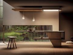 Cappa ad isola Classe A in acciaio e legno con aspirazione perimetraleLULLABY - ELICA