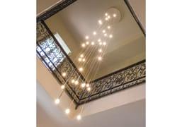 Lampada a sospensione a LED a luce diretta in vetro borosilicatoLUMIERALED X36 VENERE - ALBUM ITALIA