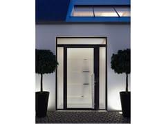 Porta d'ingresso in alluminioLUMINESCENCE – triplo vetro 58 mm - LIEBOT ITALIA