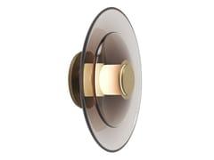 Applique a LED in vetro soffiatoLUNA A DISC - GABRIEL SCOTT