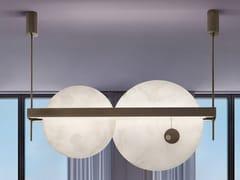 Lampada a sospensione a LED in alabastro e metalloLUNA NUOVA | Lampada a sospensione - PATRIZIA VOLPATO