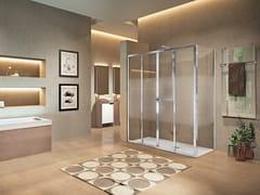 Box doccia angolare con porta scorrevoleLUNES 2.0 | 2A + F - NOVELLINI