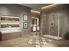 Box doccia angolare con porta scorrevoleLUNES 2.0 | 2P + F - NOVELLINI