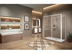 Box doccia angolare con porta scorrevoleLUNES 2.0 | 2PH + F - NOVELLINI