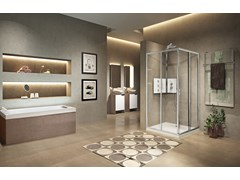 Box doccia angolare con porta scorrevoleLUNES 2.0 | A - NOVELLINI