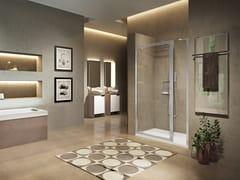 NOVELLINI, LUNES 2.0 G+F IN LINEA Box doccia a nicchia con porta pivotante