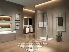 Box doccia angolare con porta a battenteLUNES 2.0 | G + F - NOVELLINI