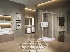 Box doccia semicircolare con porta scorrevoleLUNES 2.0 | R - NOVELLINI