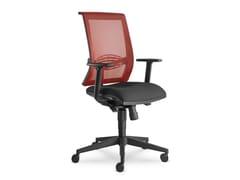 Sedia ufficio imbottita in tessutoLYRA 217-AT - LD SEATING