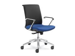 Sedia ufficio imbottita in tessutoLYRA NET 204 F80-N6 - LD SEATING