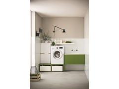Mobile lavanderia laccato per lavatriceMobile lavanderia laccato - ARBLU