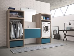 Laundry room cabinet with sink