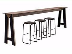 Tavolo alto rettangolare con prese elettriche LINK 507 - Link & Low Link