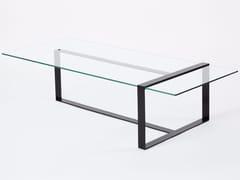 Tavolino basso rettangolare in acciaio e vetroSÉVERIN | Tavolino basso - ALEX DE ROUVRAY DESIGN
