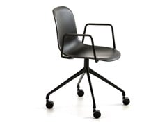 Sedia ufficio con braccioli con ruoteMÁNI PLASTIC AR-HO-4 - ARRMET