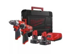 Kit trapano avvitatore ed avvitatore ad impulsi M12 FPP2A-402X - MILWAUKEE ELECTRIC TOOL CORPORATION