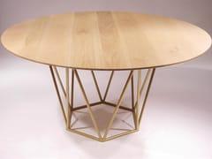 Tavolo rotondo con piano in legno masselloMADREMANYA - DADRA