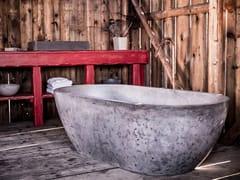 Vasca da bagno centro stanza ovale in calcestruzzo alleggeritoMAGNA - CRÉER