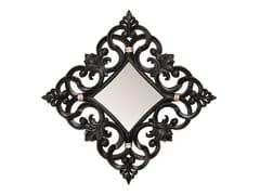 BLEU PROVENCE, MAGNOLIA Specchio quadrato in legno con cornice