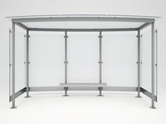 Pensilina in acciaio e vetroMAGNUM TRASPARENT - BELLITALIA