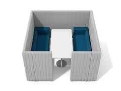 SISTEMA COMPONIBILE, MODULARE E FREESTANDING USO BOX MEETINGMAJI SISTEMA 6 - ADRENALINA