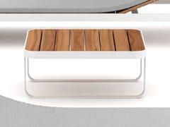 Tavolino basso da giardino in alluminio e legnoMAKEMAKE | Tavolino da giardino - DÉCO  - THE ITALIAN DECKING COMPANY