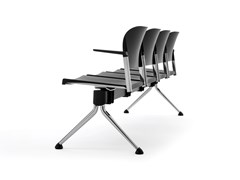 Seduta su barra in polipropilene riciclato e metalloMAKEUP | Seduta su barra - DIEMMEBI
