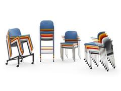 Sedia con ruote in polipropilene riciclato e metalloMAKEUP | Sedia con ruote - DIEMMEBI