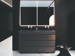 Mobile lavabo da terra in poliuretano con cassettiMAKING | Mobile lavabo - FIORA