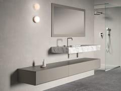 Mobile lavabo singolo sospeso con cassettiMAKING | Mobile lavabo con cassetti - FIORA