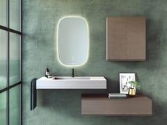 Mobile lavabo singolo sospeso in poliuretano con cassettiMAKING | Mobile lavabo sospeso - FIORA