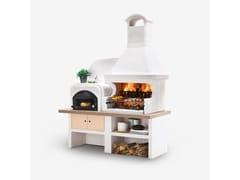 Barbecue a carbonella a legna in cementoMALIBU CON FORNO - PALAZZETTI LELIO