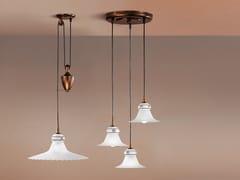 Lampada a sospensione a LED regolabile in ceramica e vetroMAMI_P - LINEA LIGHT GROUP