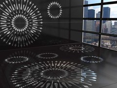 CEDRIMARTINI, MANDALA Superficie in resina decorata in metallo composito