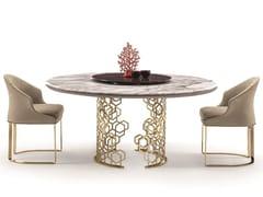 Tavolo rotondo in marmo con Lazy Susan MANFRED | Tavolo in marmo - Loveluxe - Essence