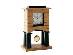 Orologio a pendolo da tavolo in legno impiallacciatoMANTEL CLOCK - ALESSI