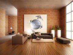 Orologio in acciaio inox da pareteMAPPAMONDO M - CARLUCCIO DESIGN