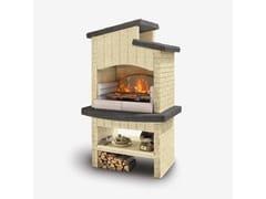 Barbecue a carbonella a legna in cementoMARETTIMO - PALAZZETTI LELIO