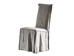 Sedia in tessuto con schienale altoMARGHERITA - CHAARME LETTI
