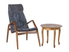 Tavolino da caffè basso rotondo in legno da salotto MARGIT | Tavolino rotondo -