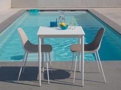 Tavolo da giardino quadrato in alluminio e vetro MARGUERITE BISTRO - Marguerite