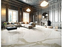 Pavimento in gres porcellanato effetto marmo MARMI CENTO2CENTO - BIANCO CALACATTA - MARMI CENTO2CENTO