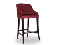 Sgabello da bar imbottito con gambe in faggioMARY - SALMA FURNITURE