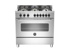 Cucina a libera installazione in acciaio inoxMASTER - MAS90 6HYB S XT - BERTAZZONI